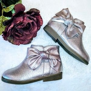 Garanimals baby boots metallic NWT bow ankle